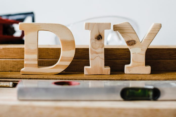 DIY letters made of wood