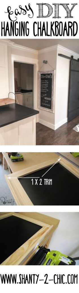DIY Hanging Farmhouse Chalkboard