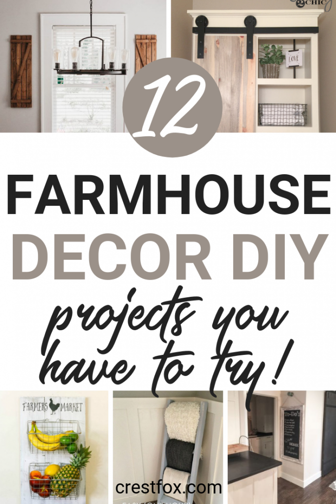12 Farmhouse decor DIY projects you have to try