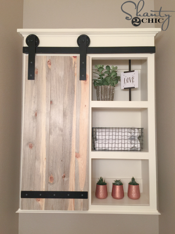 Bathroom Barn Door Cabinet