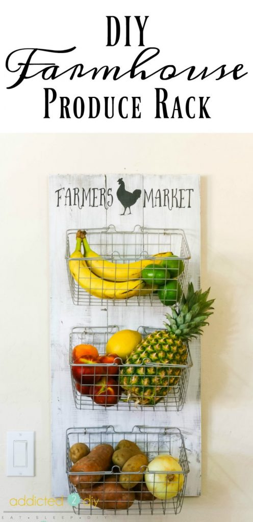 DIY Farmhouse Rack