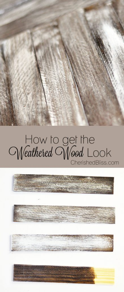 How to Get Weathered Wood Look