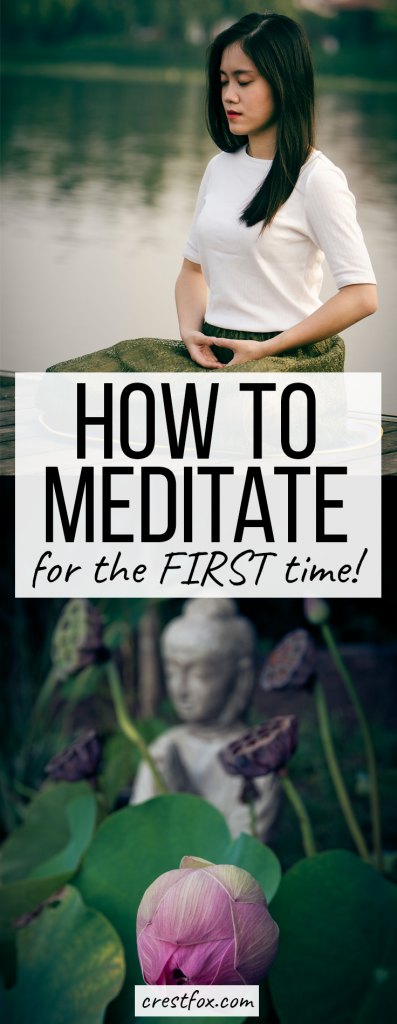 Meditation for Beginners - How to Meditate for the First Time. Increase mindfulness, decrease anxiety, and improve your overall mental health this this easy, guided meditation technique.