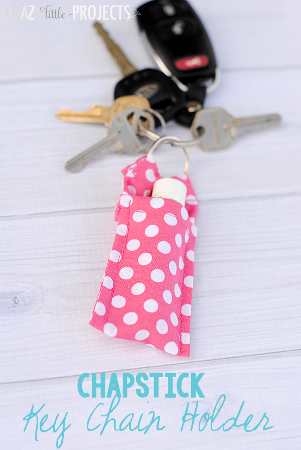 Keychain Chapstick Holder Sewing Project Tutorial