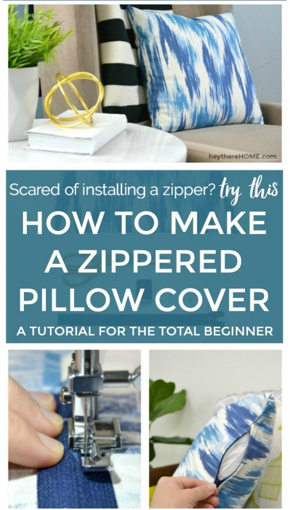 Zippered Pillow Cover Sewing Project Tutorial