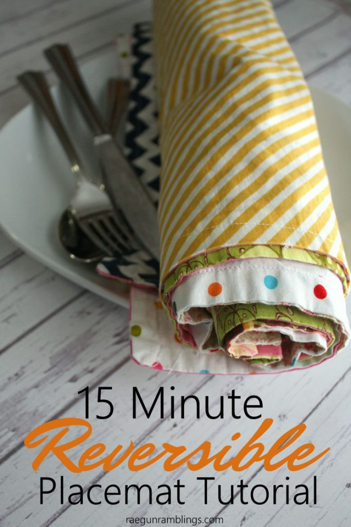 15 Minute Placemats Sewing Tutorial