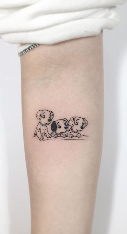 101 Dalmatians Arm Tattoo
