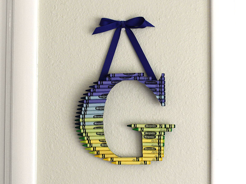 ombre crayon letter gift for teachers
