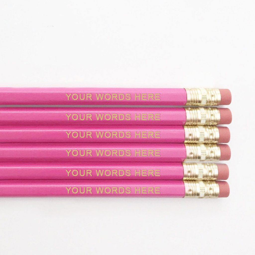 personalized pencils by macarons and mimosas teacher appreciation gift