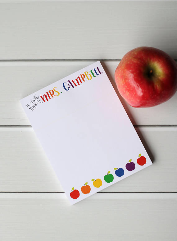 personalized teacher stationery gift by pink apple parties on etsy