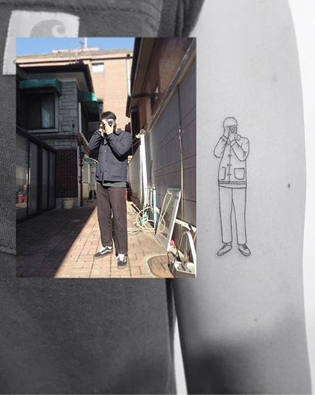 Minimalist Photographer Arm Tattoo