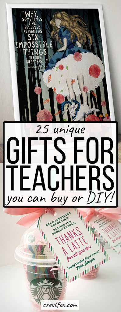 End of year gifts for teachers that you can buy or DIY.