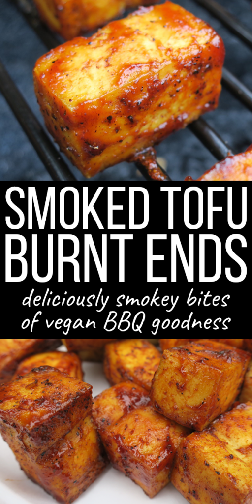 Smoked Tofu Burnt Ends | If you're vegan or vegetarian, try this healthy summer BBQ recipe on your grill or smoker