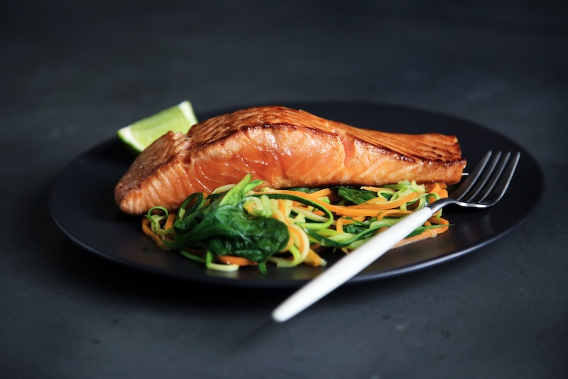 salmon and vegetables for keto diet
