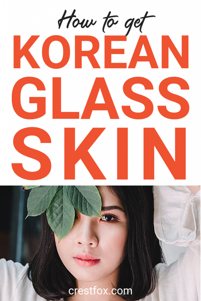 Korean Glass Skin Pin for Pinterest