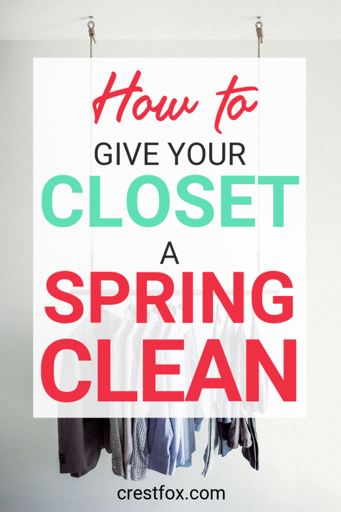How to Give Your Closet a Spring Cleaning Pin for Pinterest