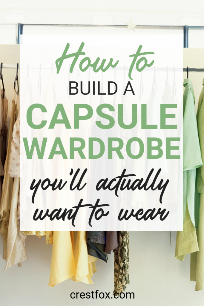 How to Build a Capsule Wardrobe Pin for Pinterest