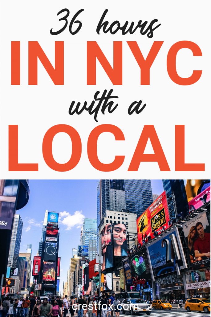 NYC Itinerary with a Local
