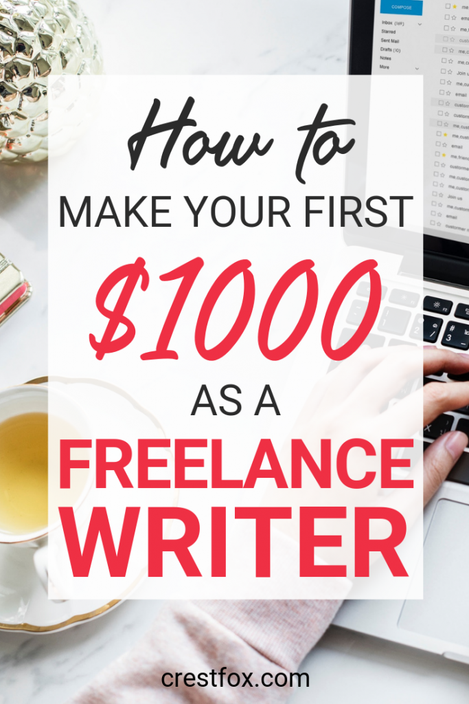 Freelance writing for beginners - learn how to become a work-at-home freelance writer and earn your first $1,000 with these tips.