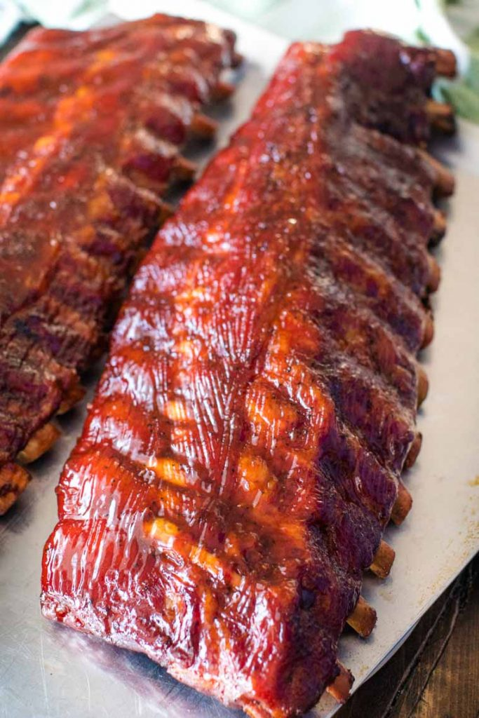 3-2-1 smoked ribs by Gimme Some Grilling
