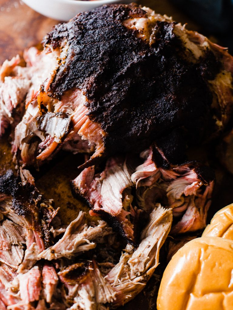 Texas Style Smoked Pulled Pork by Dad with a Pan