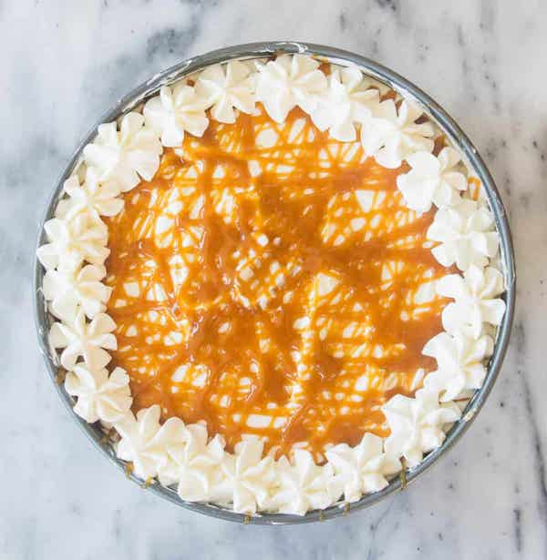 Caramel Macchiato Cheesecake by the Itsy-Bitsy Kitchen