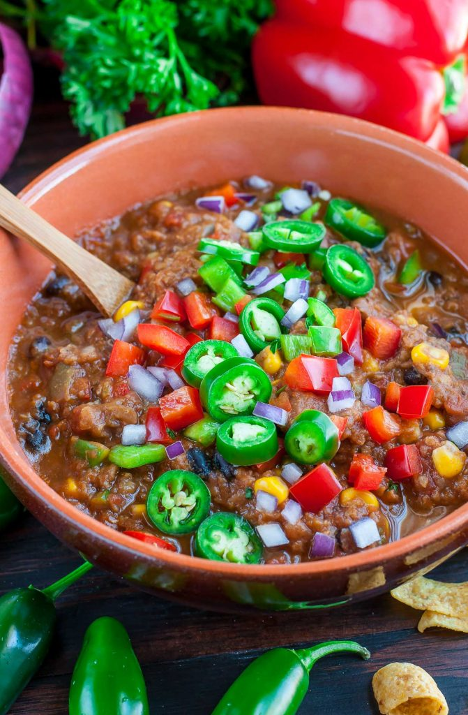 instant pot meatless lentil chili