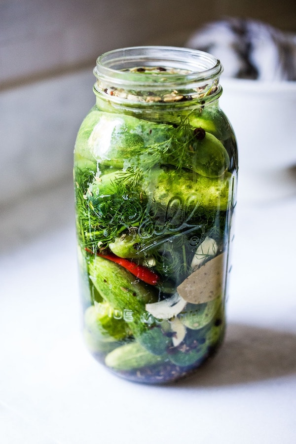 Fermented Pickles by Feasting at Home